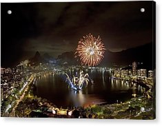 Christmas In Rio 2 Acrylic Print by Sergio Bondioni