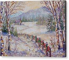 Christmas Acrylic Print by Lou Ann Bagnall
