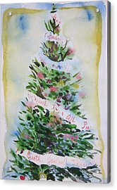 Christmas Tree Acrylic Print by Tilly Strauss