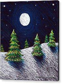 Christmas Trees II Acrylic Print by Nancy Mueller