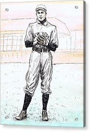 Christy Mathewson Acrylic Print by Mel Thompson