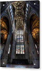 Church Interior Acrylic Print by Adrian Evans