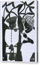 Church Ladies Acrylic Print by Rhetta Hughes