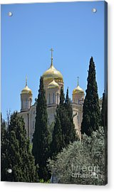 Church Of Gornensky Convent 2 Acrylic Print by Moshe Moshkovitz