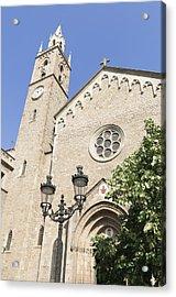 Church Parroquia De La Purissima Concepcio Barcelona Spain Acrylic Print by Matthias Hauser