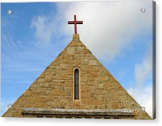 Church Top Acrylic Print by Henrik Lehnerer