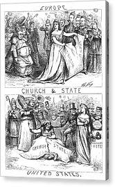 Church/state Cartoon, 1870 Acrylic Print by Granger