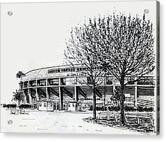 Cincinnati Reds/al Lopez Stadium Tampa Florida Acrylic Print by Frank Hunter