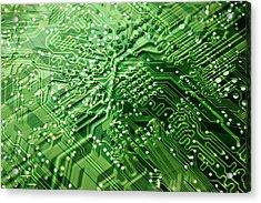 Circuit Board, Computer Artwork Acrylic Print by Pasieka