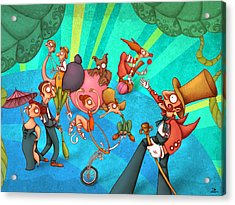 Circus 2 Acrylic Print by Autogiro Illustration