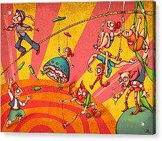 Circus 3 Acrylic Print by Autogiro Illustration