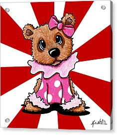Circus Bear Cutie Acrylic Print by Kim Niles
