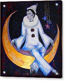 Cirque De La Lune Acrylic Print by Barbara Jean Lloyd