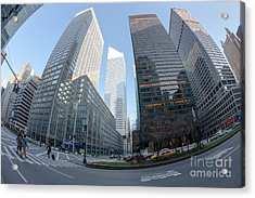 Citigroup Center From Park Avenue I Acrylic Print by Clarence Holmes