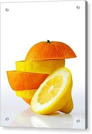 Citrus Slices Acrylic Print by Carlos Caetano