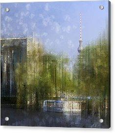 City-art Berlin River Spree Acrylic Print by Melanie Viola