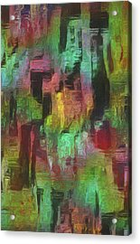 City At Night Acrylic Print by Jack Zulli