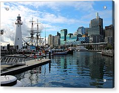 City Docks Acrylic Print by Harlan Fijal-Campbell