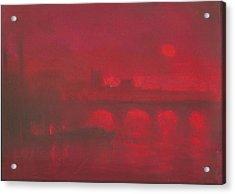 City Mist 1 Acrylic Print by Paul Mitchell