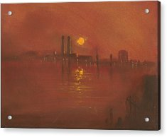 City Mist 3 Acrylic Print by Paul Mitchell