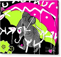 City Mouse Baby Juvenile Licensing Art Acrylic Print by Anahi DeCanio