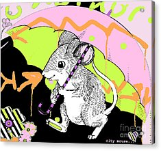City Mouse Baby Licensing Art Acrylic Print by Anahi DeCanio