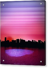 City Of My Dreams Acrylic Print by Jan W Faul