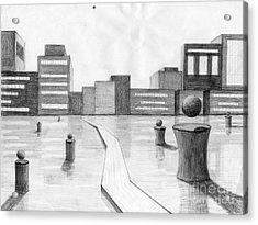 City Scene Acrylic Print by Alyssa Barilar