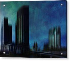City Shapes Melbourne I Acrylic Print by Melanie Viola