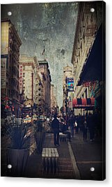 City Sidewalks Acrylic Print by Laurie Search