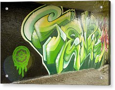City Sponsored And Approved Graffiti Acrylic Print by Bill Hatcher