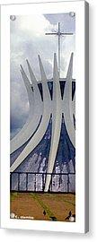 Roberto Alamino Acrylic Print featuring the photograph Citymarks Brasilia by Roberto Alamino