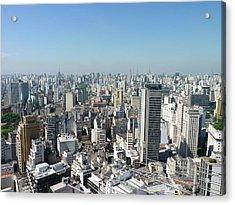 Cityscape Of São Paulo Acrylic Print by Felipe Borges