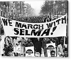 Civil Rights March, 1965 Acrylic Print by Granger