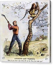 Civil War Cartoon, 1862 Acrylic Print by Granger