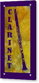 Clarinet Acrylic Print by Jenny Armitage