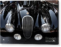 Classic Black Jaguar . 40d9322 Acrylic Print by Wingsdomain Art and Photography