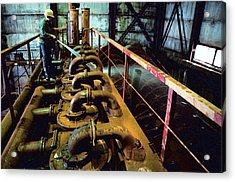 Cleaning Gold Mining Equipment Acrylic Print by Ria Novosti