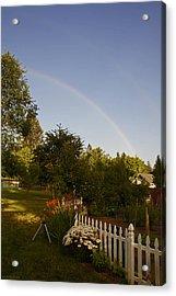 Clear Sky Rainbow Acrylic Print by Mick Anderson