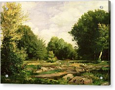 Clearing In The Woods Acrylic Print by Pierre Auguste Renoir