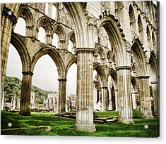 Cloisters Of Rievaulx Abbey Acrylic Print by Sarah Couzens