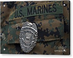 Close-up Of A Duty Master-at-arms Badge Acrylic Print by Stocktrek Images