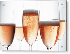 Close Up Of Glasses Of Champagne Acrylic Print by Brett Stevens