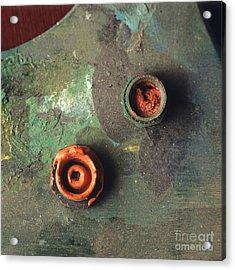 Close Up Of Palette. Acrylic Print by Bernard Jaubert