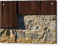 Close Up Of The Stone Foundation Of An Acrylic Print by Todd Gipstein