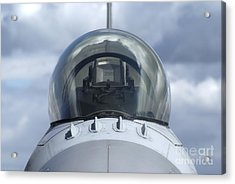 Close-up View Of The Canopy On A F-16a Acrylic Print by Ramon Van Opdorp