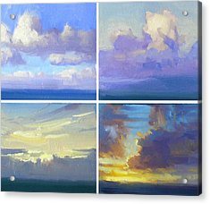 Cloud Studies Acrylic Print by Richard Robinson