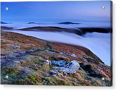 Cloud Waterfalls Bannerdale Crags Acrylic Print by Stewart Smith