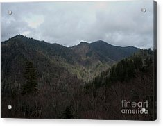 Cloudy Mountain Acrylic Print by Michael Waters
