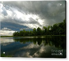 cloudy with a Chance of Paint 4 Acrylic Print by Trish Hale